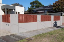 Timber and Rendered Brick front wall